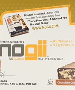 NoGii High Protein Nutritional Bar, Chocolate Coconut, 1.93 Ounce Bars, 12 Count