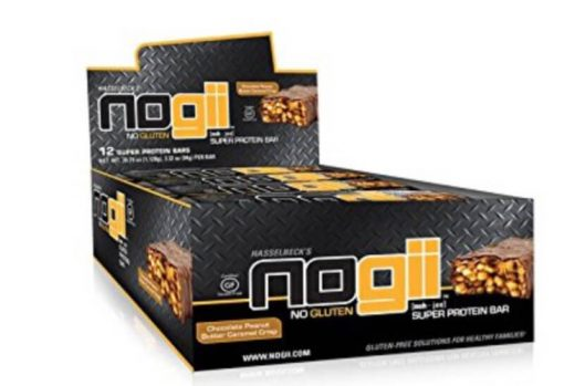 NoGii Super Protein Bar, Chocolate PB & Caramel Crisp, 3.32 oz bars, 12 ct