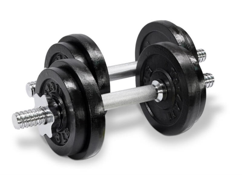 Yes4All adjustable dumbbells are available in six sets making them suitable for all levels