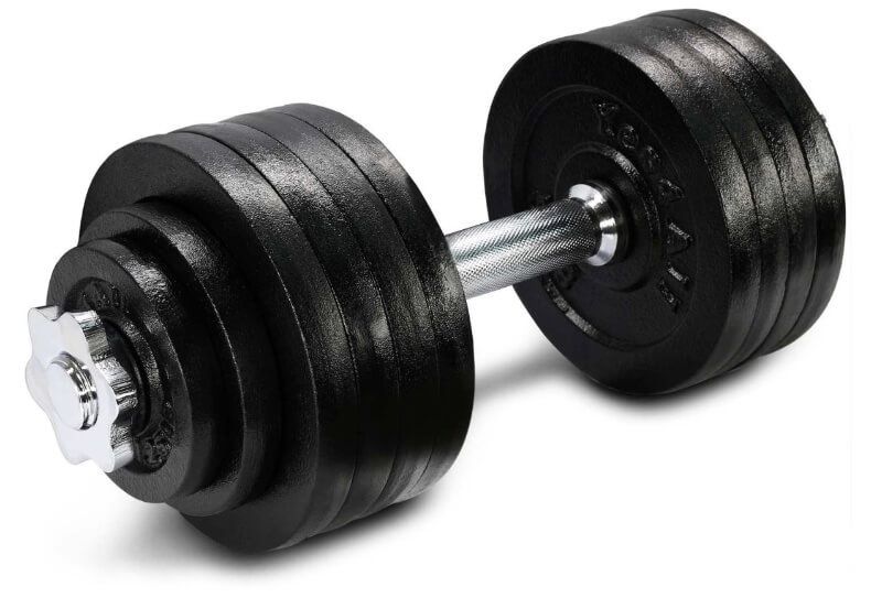 Yes4All adjustable dumbbells don't have an innovative quick adjustment system, but they are safe and user-friendly