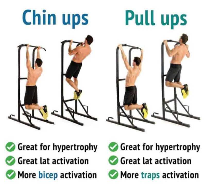 Chin Up vs Pull Up: What Are The Differences?