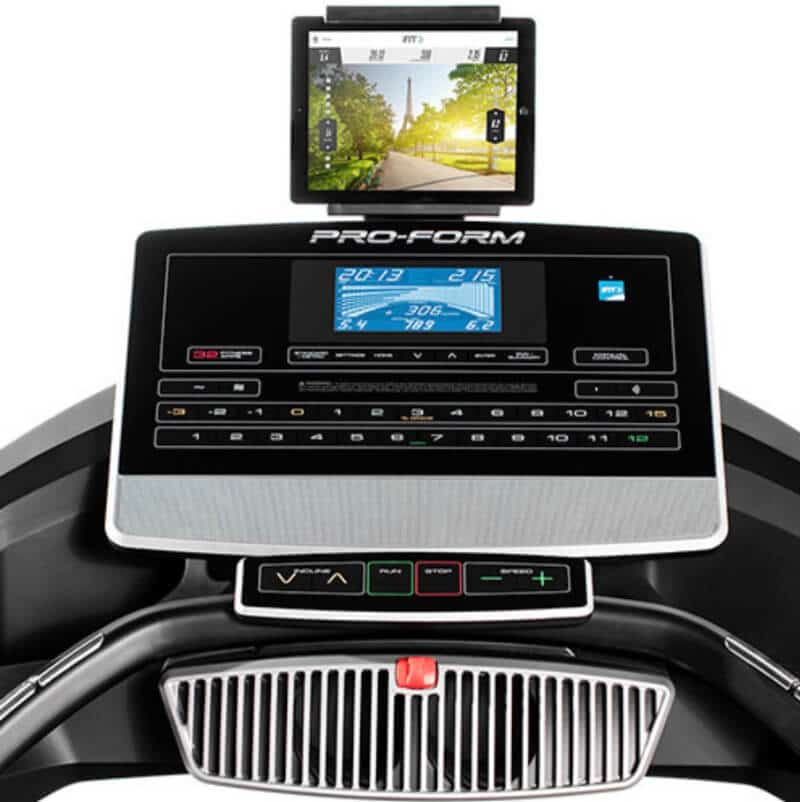 It can attach your tablet above the console