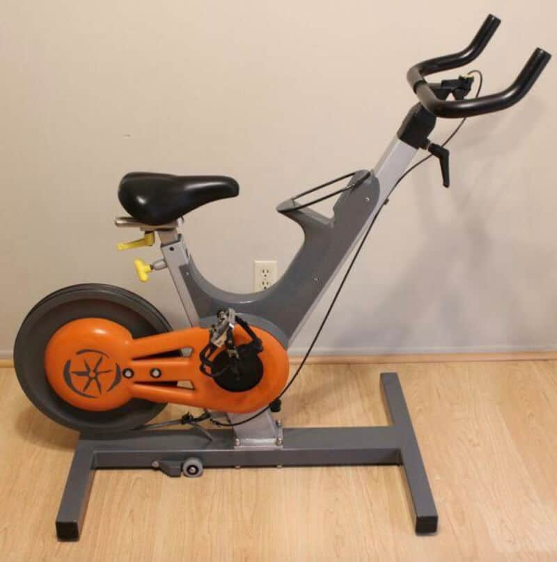 Keiser spin bikes have got quite low seat and high handle