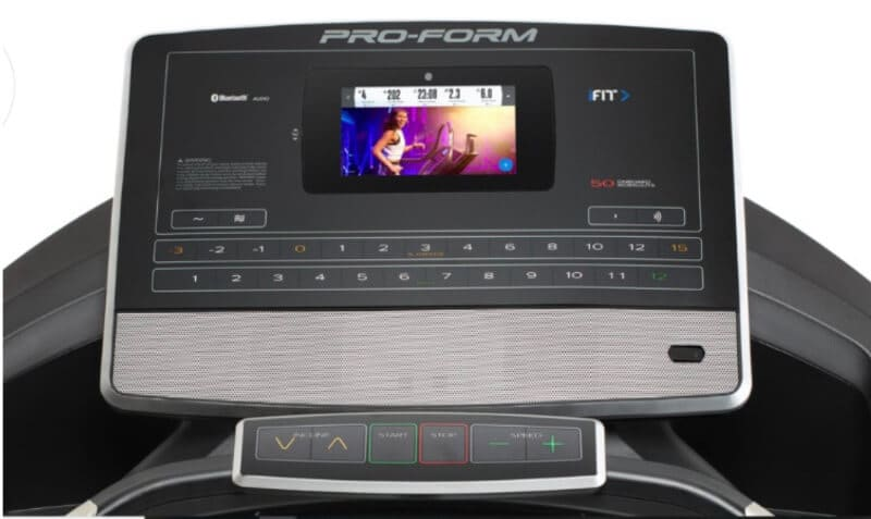 The Console of The ProForm Pro 2000 Treadmill