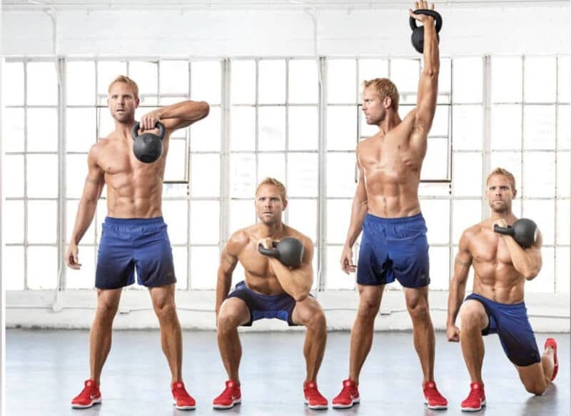 can build muscle in every area of the body from kettlebell