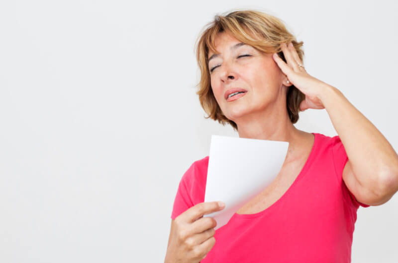 Hot flashes is an issues of women's menopause