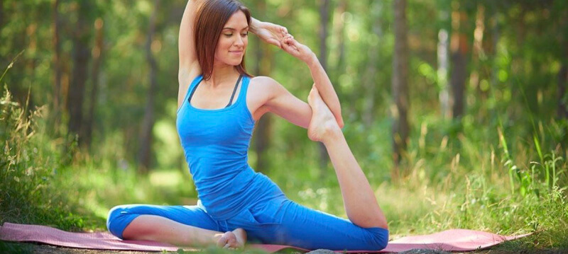 Yoga helps practicer relax